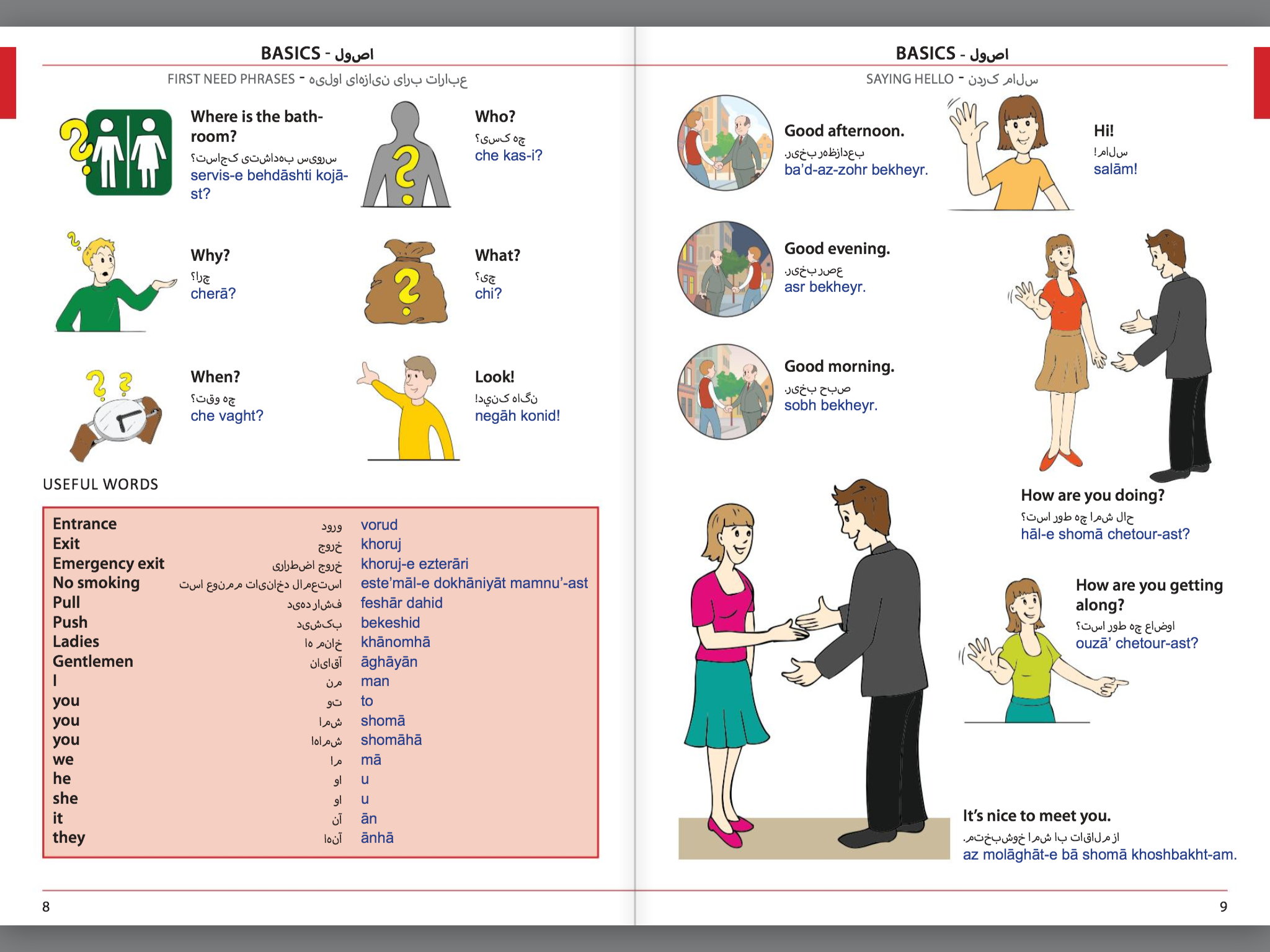 Visual Phrase Book Farsi (Persian)