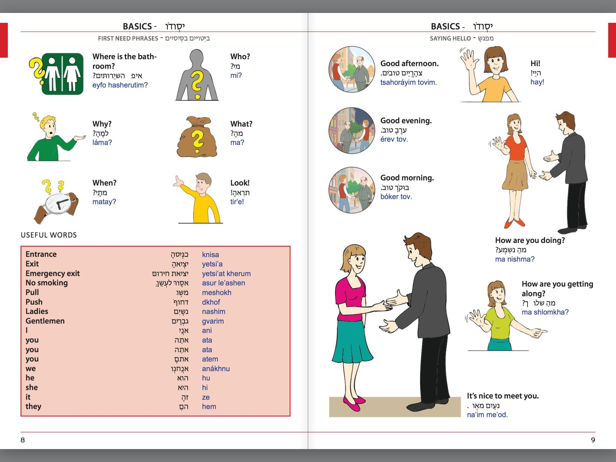 Visual Phrase Book Hebrew