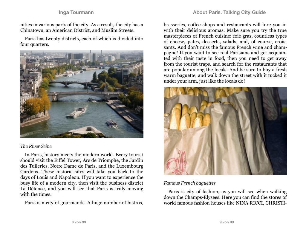 About Paris. Talking City Guide
