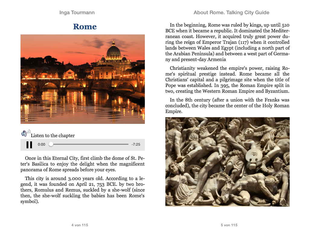 About Rome. Talking City Guide