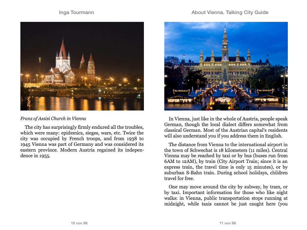 About Vienna. Talking City Guide