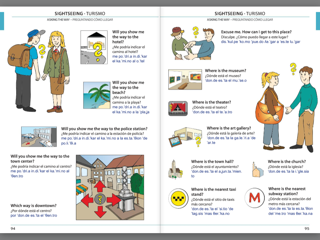 Visual Phrase Book Spanish