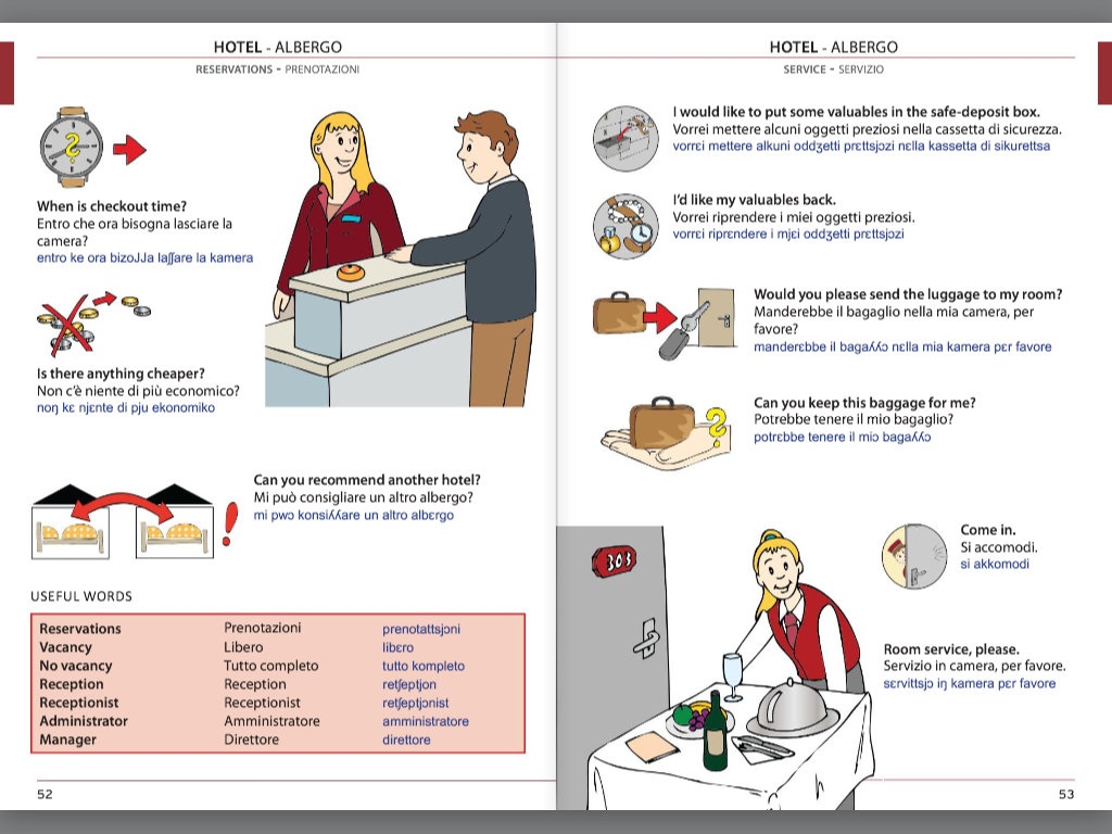 Visual Phrase Book Italian